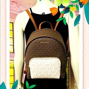 Michael Kors Erin Medium Vanilla Multi Backpack